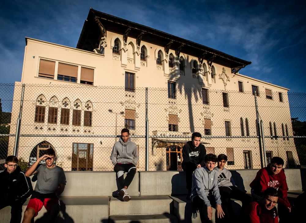 La façana del centre de Sarrià
