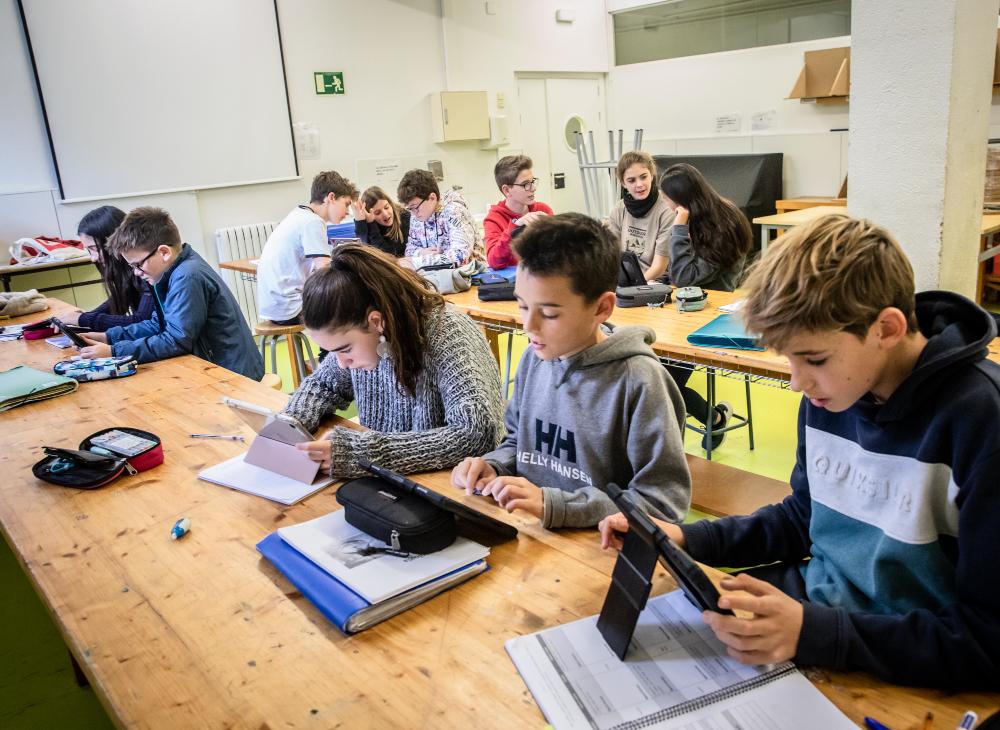 Una aula del centre de Sarrià