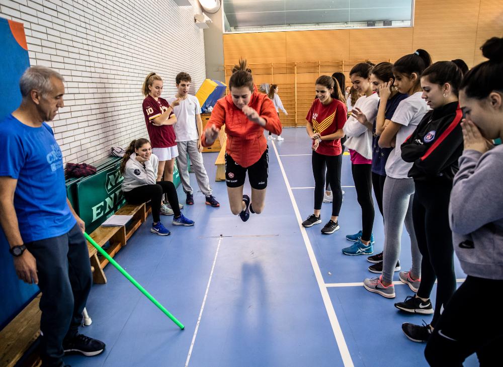 El gimnàs del centre de Sarrià