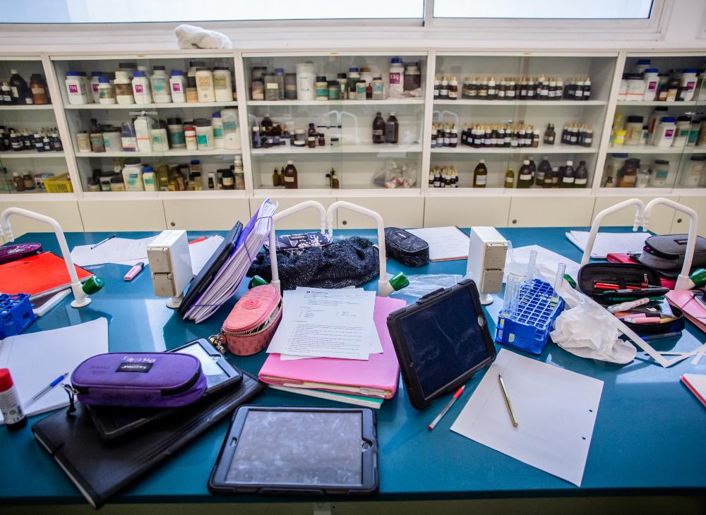 El laboratori del centre de Sarrià