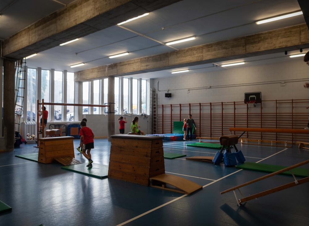 El gimnàs del centre de Tibidabo